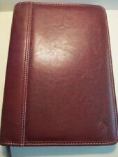 Compact Franklin Covey Brown Leather 15 Rings Zip Planner Binder Euc Quality