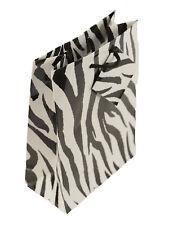 10 Zebra Print cordón Bolsas De Regalo Etiquetas 75x88mm (4701)