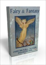 Fairy & Fantasy - over 300 colour public domain images on DVD. Fairies! Dragons!
