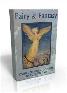 Fairy & Fantasy - over 300 colour public domain images on DVD. Fairies! Dragons!