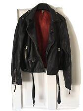 Topshop Real Leather Biker Jacket Size 14