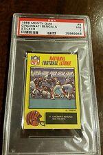 1988 MONTY GUM NFL STICKER CARD ENGLAND WALTER PAYTON BEARS BENGALS # 9 PSA 7 NM