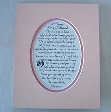 RARE Friendship BEST FRIEND INSPIRES Sharing GIVING KIND verses poems plaques