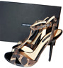 $675 DOLCE & GABBANA Leopard Platform T Strap Sandals Pumps Shoe Heels 36-6 D&G