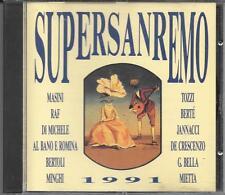 "TOZZI  BERTE  MIETTA  RAF  MINGHI  FARGO  DE MAS - RARO CD "" SUPERSANREMO 1991 """