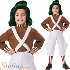 Child Oompa Loompa Fancy Dress Costume Book Week Boys Girls Outfit