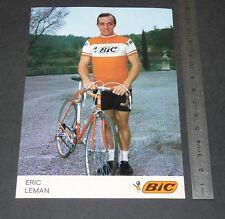 CARTE PHOTO CYCLISME 1972 EQUIPE BIC ERIC LEMAN COUREUR VELO TOUR FRANCE