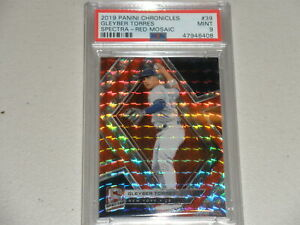 2019 Panini Chronicles Spectra Red Mosaic #39 Gleyber Torres PSA 9 MINT