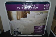Mattress Saver Australian Wool Natural Comforter Full/Queen Hypo-Allergenic New