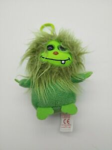 """Ty Frizzy - Scoops 4"""" mini plush with clip. 2015 Little Green Monster"""