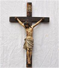Antikes Kruzifix um 1800 - geschnitzt und farbig gefasst