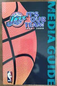 1999-2000 UTAH JAZZ MEDIA GUIDE: KARL MALONE, JOHN STOCKTON, JEFF HORNACEK - NBA