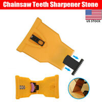 Chainsaw Teeth Chain Saw Sharpener Sharpening Stone System Tool Woodworking US