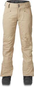 Dakine Women's Westside Insulated Snowboard Pants Medium Stone New 2020