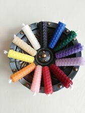 "BEESWAX CANDLES 6 x 2"" CHOOSE YOUR COLOURS. HANDMADE IN THE UK. FREE DELIVERY"