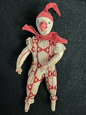 Vintage German Clown Cotton Christmas Vintage Ornament