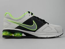 Nike Mens Air Shox 2013 Size 7 New Grey Black Green Running Shoes 599465 001