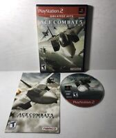 Ace Combat 5: The Unsung War (Sony PlayStation 2, 2004) PS2 Complete CIB Tested