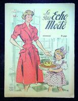Le Petit Echo de la Mode année 1951, Ancien magazine Français N°1