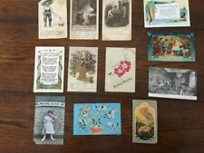 11 Vintage Postcards and Advertising Card for Pittsburg Paint. German/USA