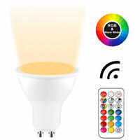 Dimmable GU10 6W RGB RGBW Daylight/Warm White Colour Changing LED Light Bulb 50W