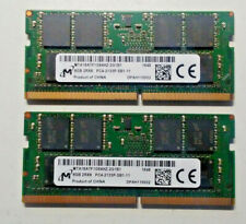 Micron 8GB X2 (16GB total) PC4-2133P DDR4 2133MHz So-Dimm Laptop Memory QTY=(2)