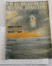 """1917 """"I May be Gone for a Long Time"""" Sheet Music Wwi Lew Brown """"Hitchy-Koo"""""""