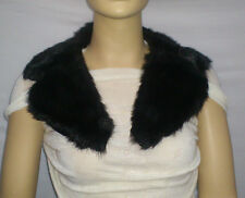FASHION FAUX FUR COLLAR : PRE CUT AND FULLY LINED : BLACK : #10261 -