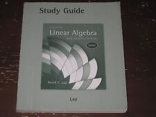LINEAR ALGEBRA AND ITS APPLICATIONS, 3RD ED. UPDATE STUDY GUIDE BY DAVID C. LAY