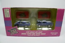 INDIANAPOLIS 500 MAY 26TH 1996 DODGE VIPER & VIPER TRUCK 1/64 SCALE DIE CAST.