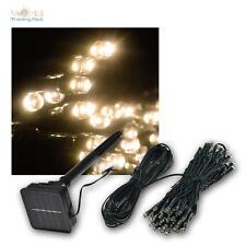 LED solaire extérieur Guirlande lumineuse Mi 100 LEDs Blanc Chaud