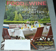 Food & Wine Magazine August 2010 Best Outdoor Parties A Lesson in White Wines