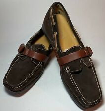 Sperry Top-Sider Brown Suede Leather Moccasin Shoe Adjustable Strap Buckle 9M