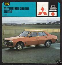 1969-1978 MITSUBISHI GALANT SIGMA Car Picture Fact CARD