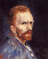 Great Oil painting portrait Vincent Van Gogh artist self-portrait canvas