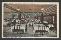 1910s PORTION OF HOTEL ROSSLYN DINING ROOM LOS ANGELES CALIFORNIA POSTCARD
