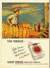 1947 vintage cigarette ad, Lucky Strike, Illustration Georges Schreiber -122112