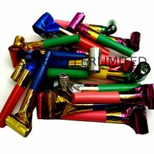 20 x PARTY BLOWERS LOOT BAG FILLER NOISE TOY ASSORTED FOIL COLOURS CHRISTMAS