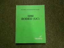 1992 ISUZU RODEO Electrical Wiring Diagram Service Shop Manual FACTORY OEM x