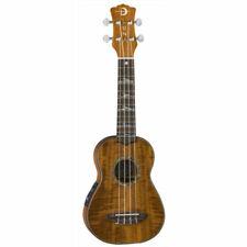 LUNA Uke High Tide Koa Soprano Acoustic Electric Ukulele Preamp Satin Natural