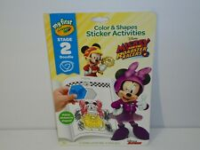 Mickey Disney My First Crayola Color & Shapes Sticker Activities Stage 2 Doodle