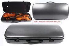 Violin/Viola Case Mixed Carbon Fiber Adjustable Size Double Violin case Black