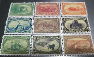 US Stamps #285-93 1898 Trans-Mississippi Expo Reprint Reproduction Place Holders