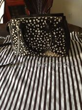 Henri Bendel Pony Hair Black and White Double Handled Handbag/ Satchel