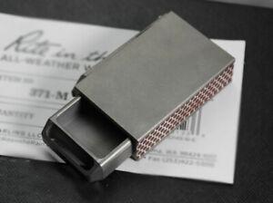 Titanium Portable EDC Pull out Storage pills Box Keychain Pendant Container