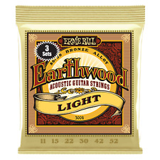 Ernie Ball Earthwood Light 80/20 Bronze Acoustic Guitar Strings 3-Pack P03004