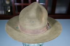 US WW2 Army DI Drill Instructor Campaign Hat. Wool Fur Felt. Very Nice. Size 7.