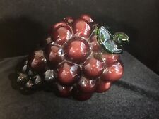 Vintage Style Glass Purple Grapes