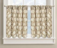 """COLORDRIFT Fossil Shells Set of 2 CURTAINS Size: 30 x 36"""" New SHIP FREE Beige"""