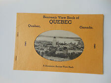 Quebec Canada Booklet 16 Great Views Vintage Travel Brochure in French & English